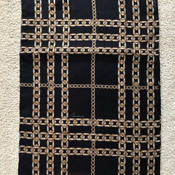 Authentic Burberry 100% Silk Scarf